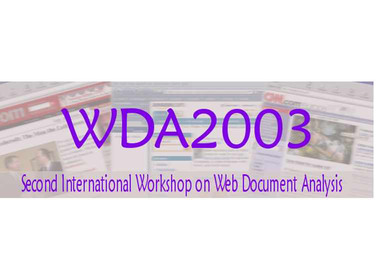 Proceedings of the Second International Workshop on Web Document Analysis (WDA2003)