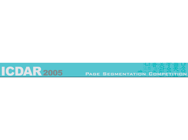 ICDAR2005 - Page Segmentation Competition