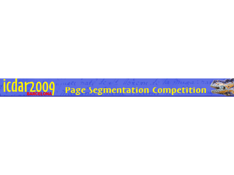 ICDAR2009 - Page Segmentation Competition