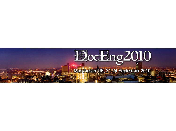 DocEng2010 - 10th ACM Symposium on Document Engineering